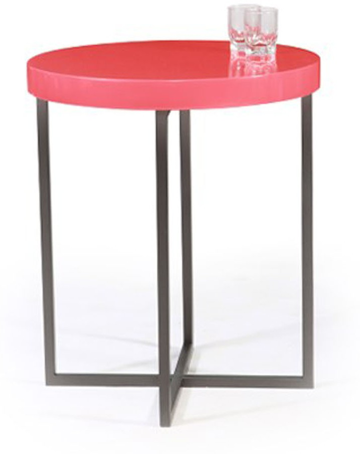 View Lekiaan Engineered Wood Side Table(Finish Color - White and Champagne) Furniture (Lekiaan)