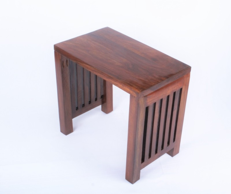 Mubell Debisk Large Solid Wood Side Table(Finish Color - Teak Brown)