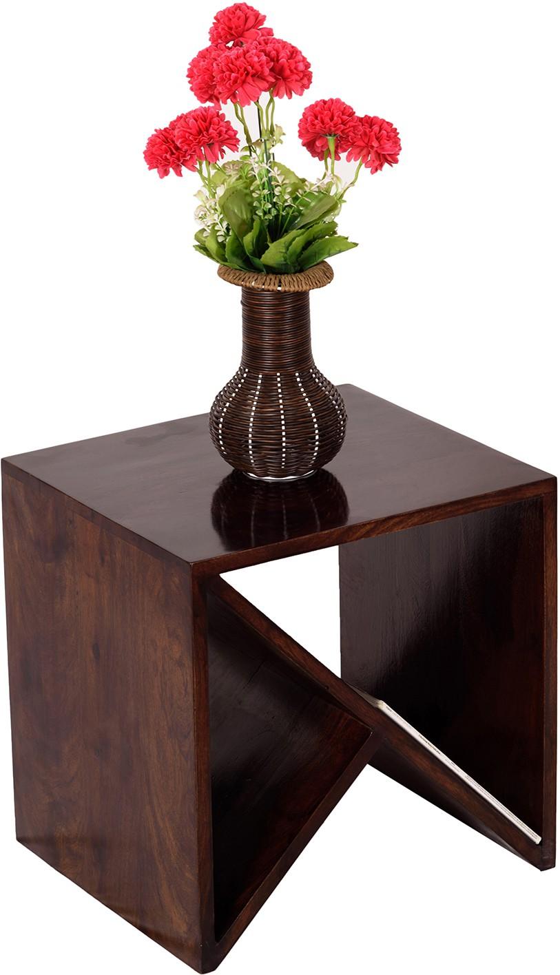 View Wood Dekor Solid Wood End Table(Finish Color - Brown) Furniture (Wood Dekor)