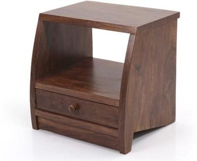 Urban Ladder Siesta Solid Wood Bedside Table(Finish Color - Teak)