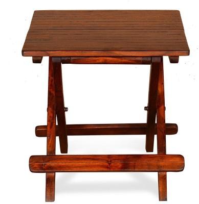 Ringabell Flip Flop Foldable Solid Wood Bedside Table(Finish Color - Teak)