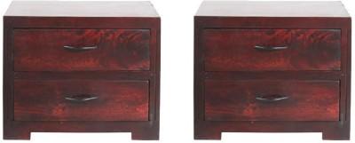 Smart Choice Furniture Mango Wood_JIBS02_Matte finish Solid Wood Bedside Table