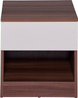 Evok Anne Engineered Wood Bedside Table(Finish Color - Cream White+Maple)