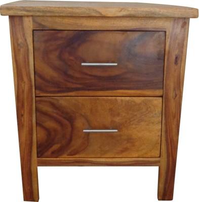 Aadhar Modern Solid Wood Bedside Table
