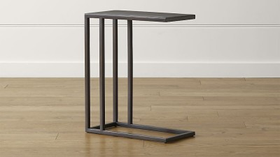 WOOD CREATION Metal Side Table(Finish Color - BLACK)