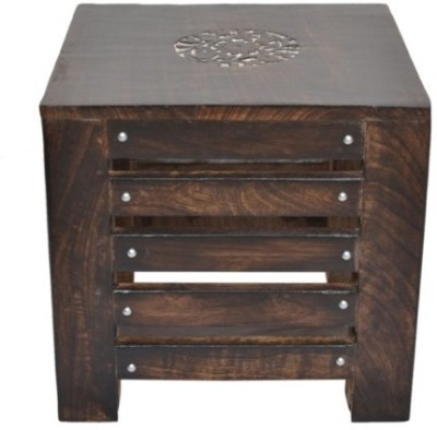 Onlineshoppee Handmade Cum End Table Solid Wood End Table