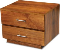 Durian ORCHID/NT Engineered Wood Bedside Table(Finish Color - Walnut)