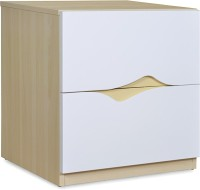 @home by Nilkamal Newton Engineered Wood Bedside Table(Finish Color - Ivory)