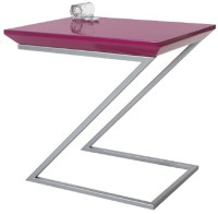 Lekiaan Engineered Wood Side Table(Finish Color - Berry and Silver)