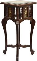 ExclusiveLane Teak Wood Solid Wood Corner Table(Finish Color - Walnut)