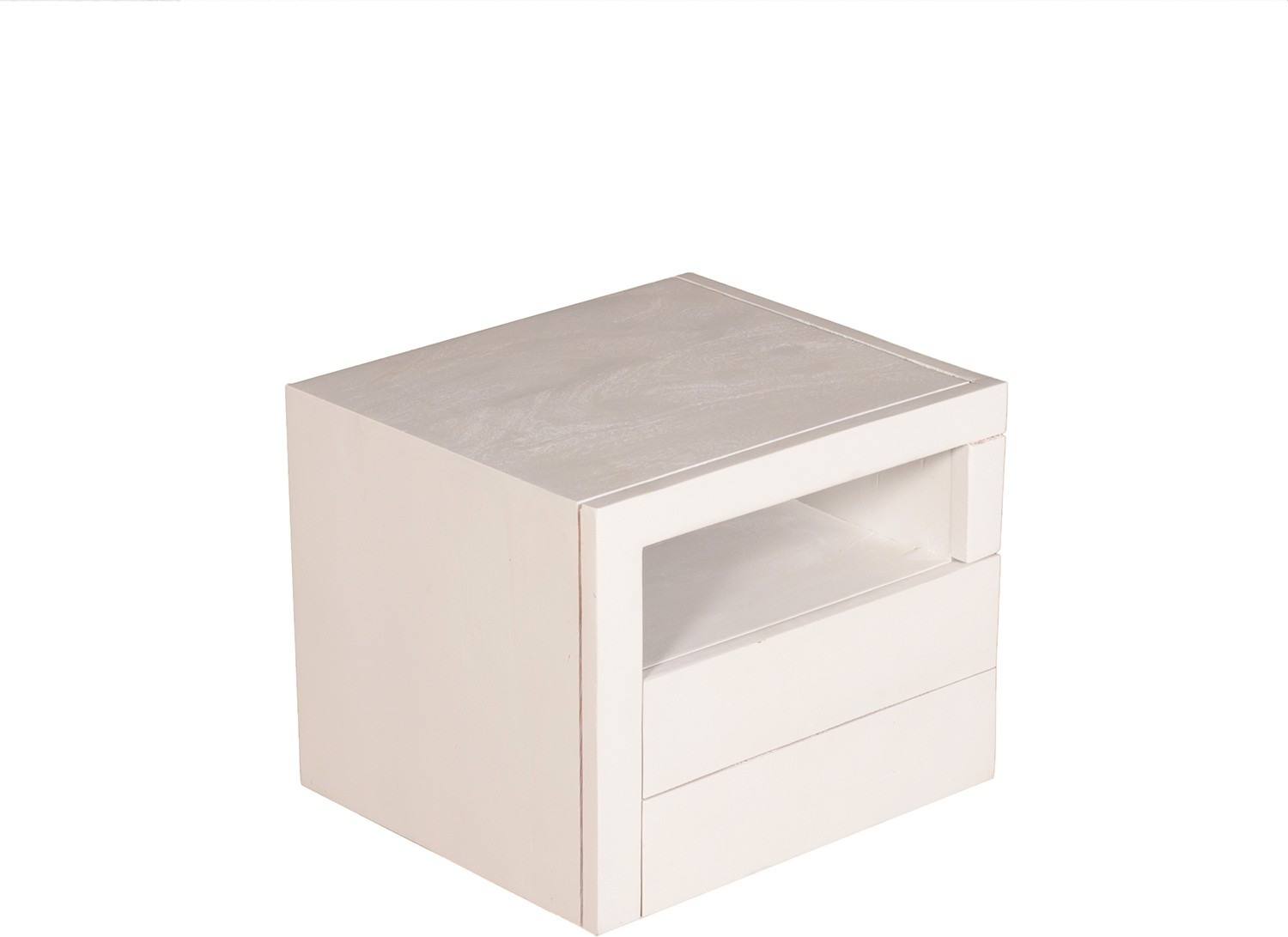 View Handiana Solid Wood Bedside Table(Finish Color - White) Furniture (Handiana)