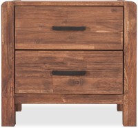 Durian WILLIAM/NT Solid Wood Bedside Table(Finish Color - Walnut)