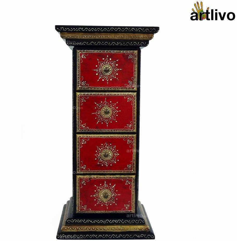 View Artlivo Solid Wood Side Table(Finish Color - Multicolor) Furniture (Artlivo)