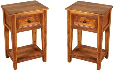 Smart Choice Furniture Rosewood (Sheesham)_JIBS25_Matte finish Solid Wood Side Table