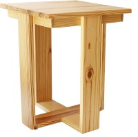 Smalshop Old Mill Rustic Solid Wood Side Table(Finish Color - Natural Pine)