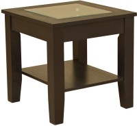HomeTown Abby Engineered Wood Side Table(Finish Color - Dark Brown)