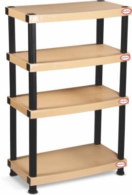 SURPRISE Heavy Duty Shelf 4 Plate Plastic Bedside Table