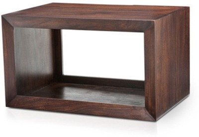 Urban Ladder Euler Solid Wood Side Table(Finish Color - Mahogany)