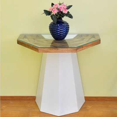 @home by Nilkamal Malibu Solid Wood End Table