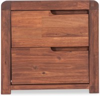 Durian ROMAN/NT Solid Wood Bedside Table(Finish Color - Walnut)
