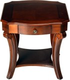 HomeTown Tina Solid Wood Side Table (Fin...