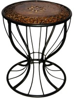 Acme Production AP-13 Metal Side Table(Finish Color - Walnut Brown)