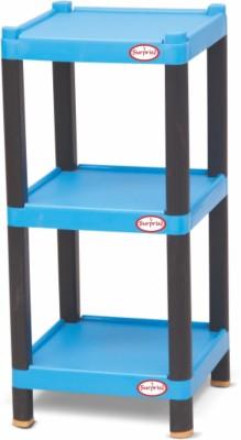 Surprise Heavy Duty Square Shelf Plastic Bedside Table