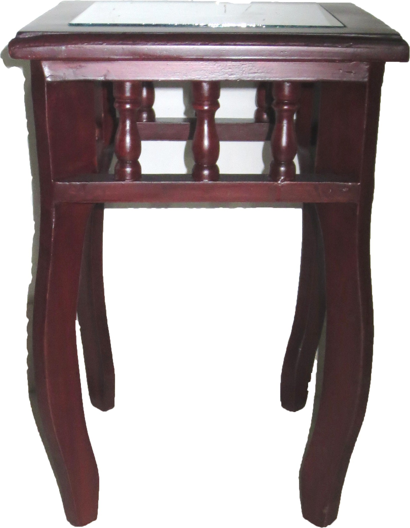 View Handicraft Shoppe Solid Wood Side Table(Finish Color - walnut brown) Furniture (Handicraft Shoppe)