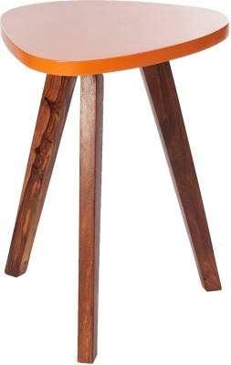 Orange Tree Solid Wood Side Table(Finish Color - Natural)