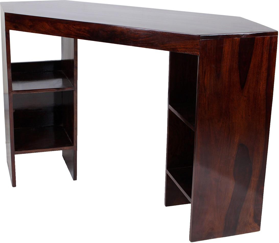 View Wood Dekor Solid Wood Side Table(Finish Color - Dark Brown) Price Online(Wood Dekor)