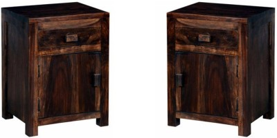 Smart Choice Furniture Rosewood (Sheesham)_JIBS03_Matte finish Solid Wood Bedside Table