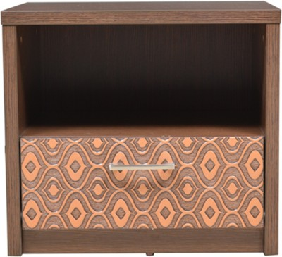 HomeTown Nebula Night Stand Engineered Wood Bedside Table(Finish Color - Coffe Brown)