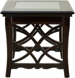 HomeTown Nina Solid Wood Side Table (Fin...