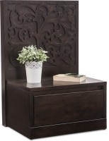 Durian WILSON/NT/A Solid Wood Bedside Table(Finish Color - Wenge)