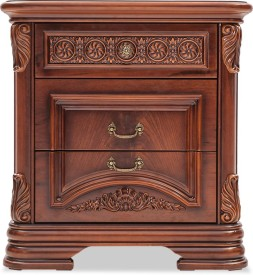 Durian CLARA/NT Engineered Wood Bedside Table(Finish Color - Cherry)