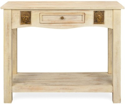 @home by Nilkamal Buddha Console Solid Wood Console Table
