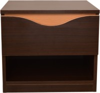 HomeTown Swirl Night Stand Engineered Wood Bedside Table(Finish Color - Denver Oak & Urban Teak)