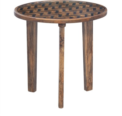 @home by Nilkamal Fabio Solid Wood Side Table
