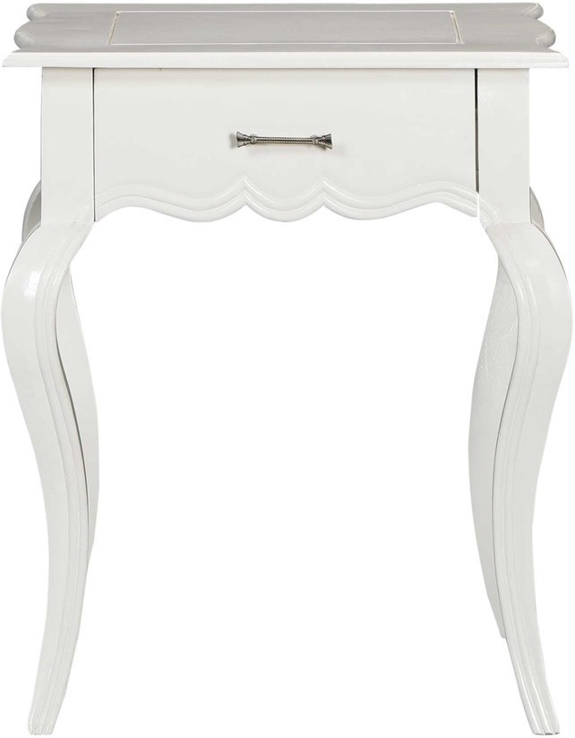 View Smarvvv Productions Solid Wood End Table(Finish Color - White) Furniture (Smarvvv Productions)
