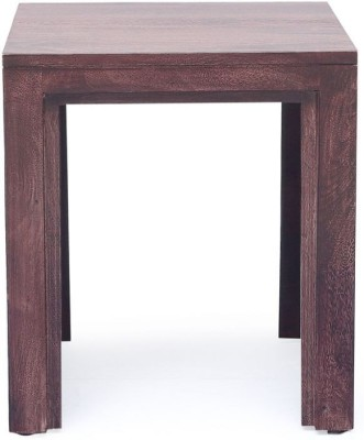 Ringabell CRAFT SURFACE Solid Wood End Table(Finish Color - Walnut)