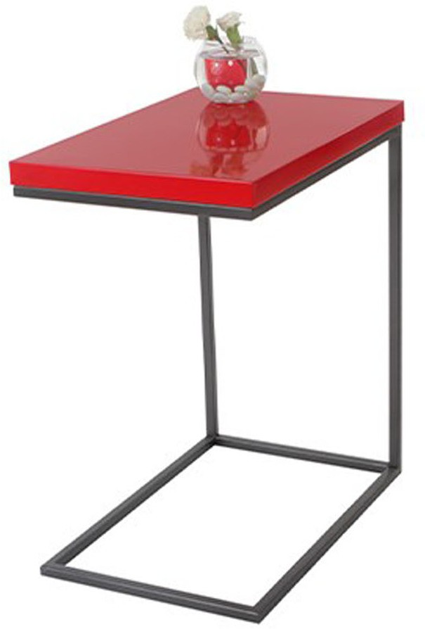 View Lekiaan Engineered Wood Side Table(Finish Color - Red and Carbon) Furniture (Lekiaan)