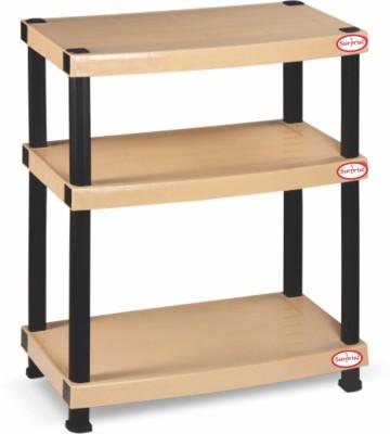 Surprise Heavy Duty Shelf 3 Plate Plastic Bedside Table