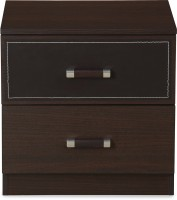 @home by Nilkamal Emirates Engineered Wood Bedside Table(Finish Color - Dark Walnut)
