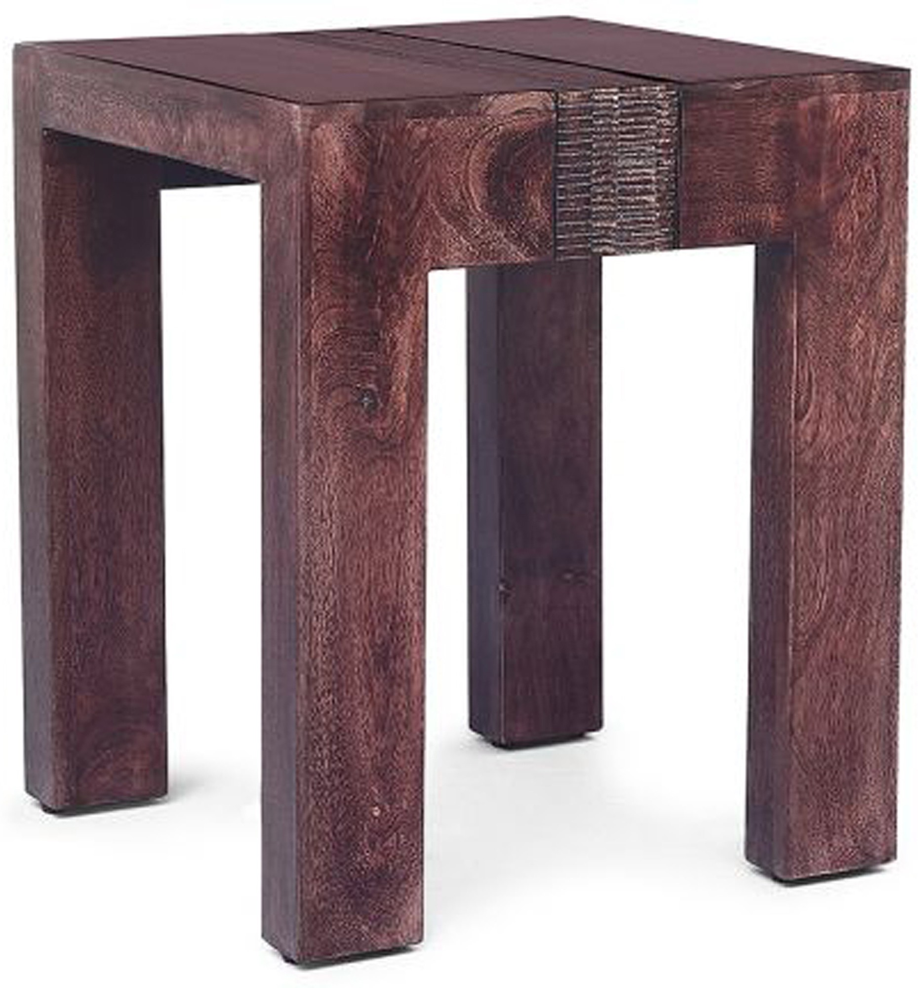 View SNG Red Deer Solid Wood Side Table(Finish Color - Walnut) Furniture (SNG)