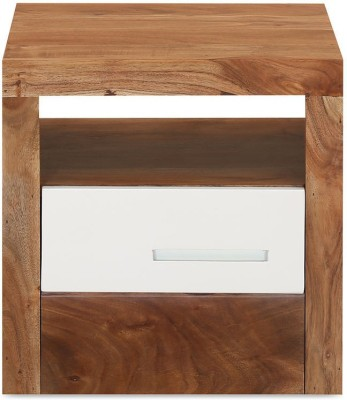 @home by Nilkamal Thor Solid Wood Bedside Table
