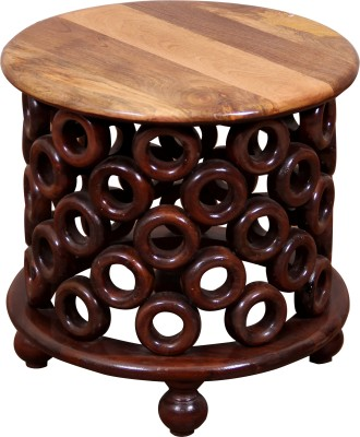 Induscraft Anaya Solid Wood End Table(Finish Color - MAHOGANY (106))