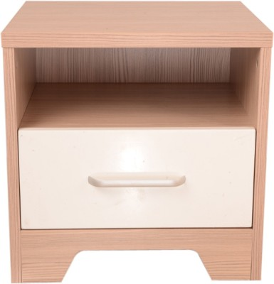 HomeTown Ambra Night Stand Engineered Wood Bedside Table(Finish Color - White & Larch)