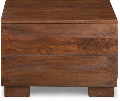 @home by Nilkamal Waves Solid Wood Bedside Table