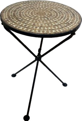 Transcends Mosaic Metal Corner Table