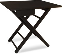 Colorwood Cosy Foldable Black Tea & side Solid Wood Side Table(Finish Color - Black)